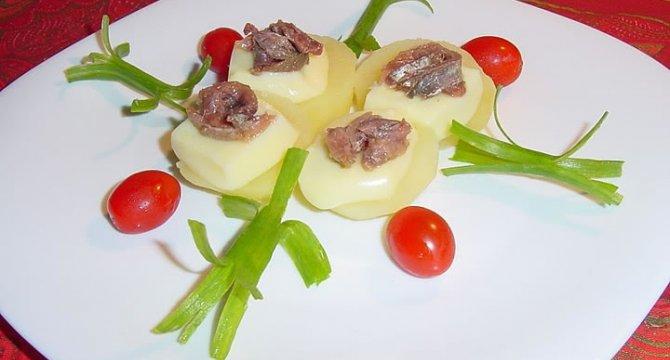Aperitiv cald cu anchoa