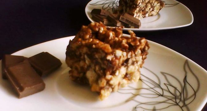 Bucatele crocante de ciocolata