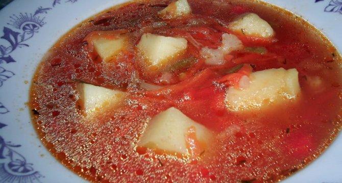 Ciorba de cartofi cu legume congelate