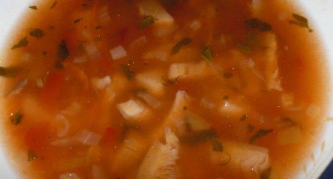 Ciorba de ciuperci pleurotus