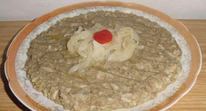 Moujdara mancare din linte si orez