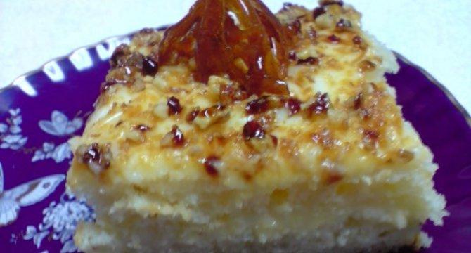 Prajitura cu crema de vanilie si Krantz
