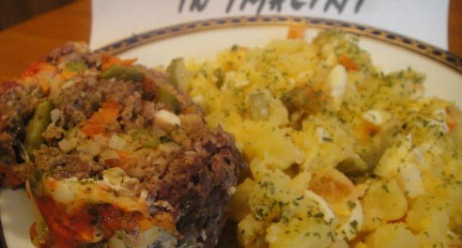 Rulada din carne tocata cu legume