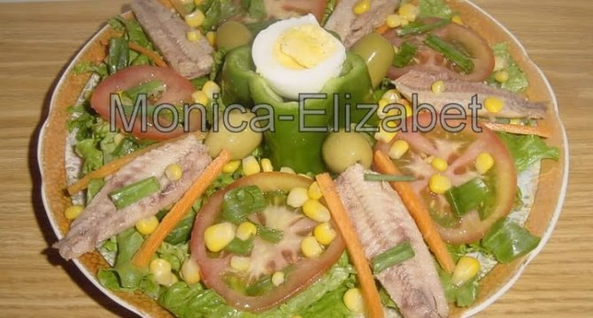 Salata de legume cu peste