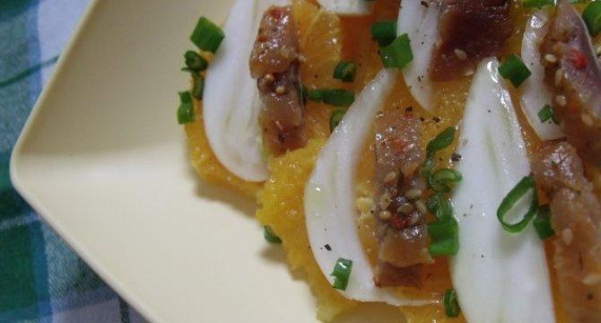 Salata de portocale cu fenicul si peste