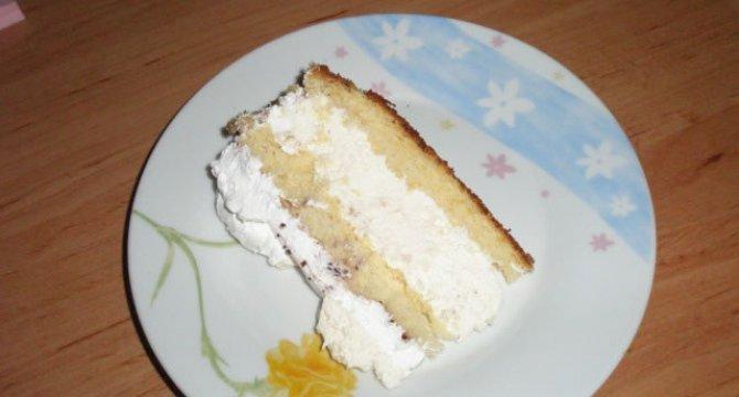Tort cu crema de lamaie