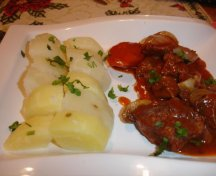 Beef bourguignion