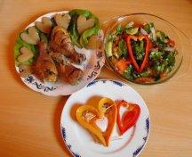 Friptura de pui cu cartofi de Sf Valentin