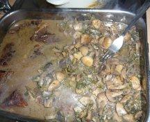 Friptura de vitel cu ciuperci