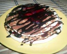 Pancakes cu topping de ciocolata