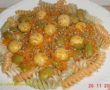 Paste cu sos de legume si ciuperci