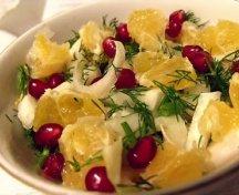 Salata cu andive, clementine si rodie