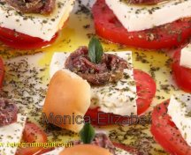 Salata de rosii, mozarella si anchoa