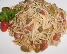 Spaghete cu masline si capere