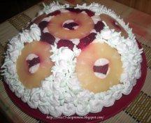 Tort Cupola cu fructe si frisca