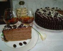 Tort Hennessy - de cafea si crema de coniac