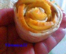 Trandafiri din foietaj si mere