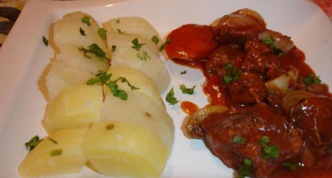 Beef bourguignion
