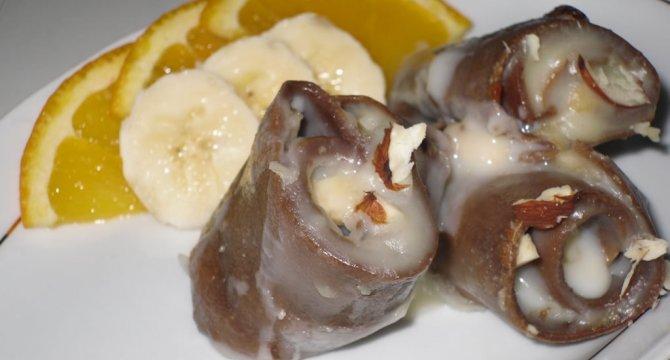 Budinca de clatite cu banane