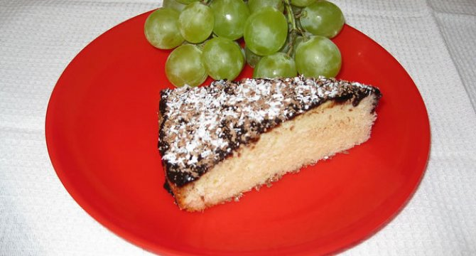 Prajitura cu iaurt si glazura de cacao