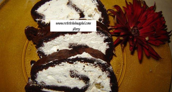Rulada cu blat de cacao
