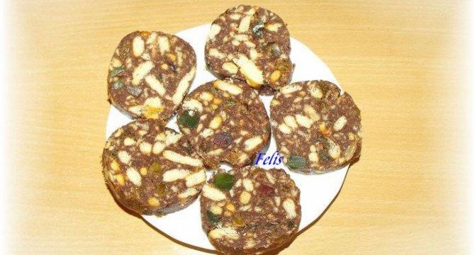 Salam de biscuiti cu rahat