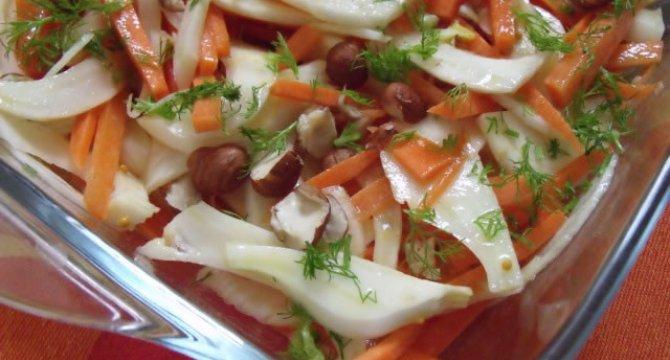 Salata de fenicul si morcovi