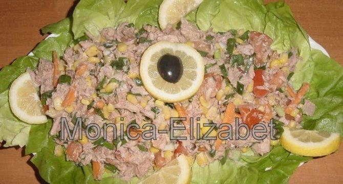 Salata de ton cu legume