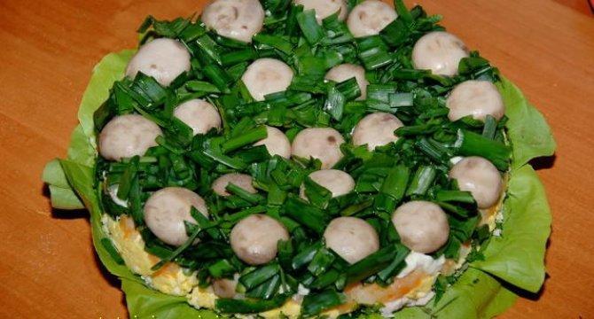 Salata Poienita cu ciuperci