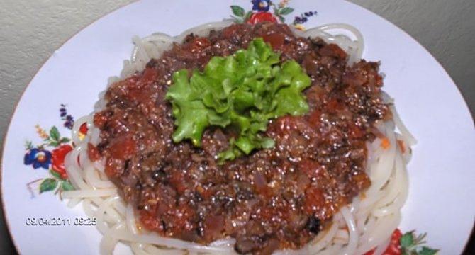 Spaghete cu ghebe