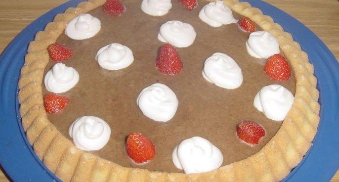 Tarta falsa cu crema caramel