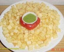 Batata bi kezbera - cartofi prajiti cu usturoi si coriandru