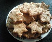 Biscuiti cu caise uscate si seminte de foarea soarelui