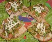 Bruschetti cu legume