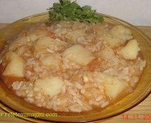 Cartofi cu orez la cuptor