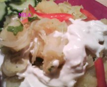 Cartofi cu sos alb