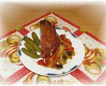 Friptura de porc cu legume