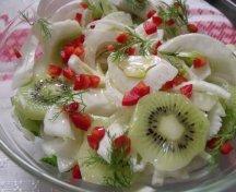 Salata cu kiwi si fenicul