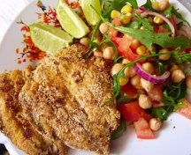 Sardine cu salata de naut si rucola