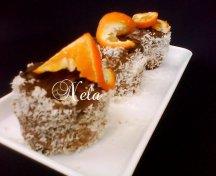 Turnulete cu ciocolata si nuca de cocos